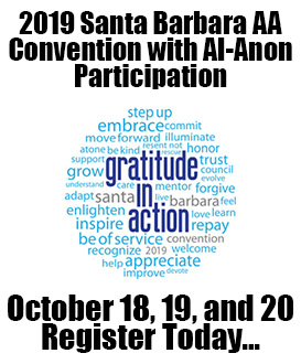 2019 Santa Barbara AA Convention with Al-Anon Participation
